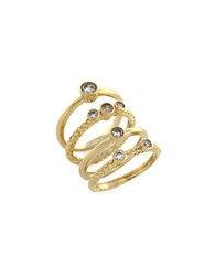 Cole Haan Cubic Zirconia Spiral Ring Gold