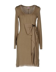 Scee By Twin Set Short Dresses Khaki