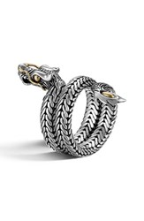 John Hardy Women's 'Legends' Coil Ring Silver Gold
