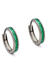 Anna Sheffield Women's Licol Emerald Hoop Earrings Nordstrom Exclusive