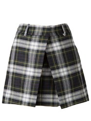 Mcq By Alexander Mcqueen Mcq Alexander Mcqueen Tartan Pleat Mini Skirt Green