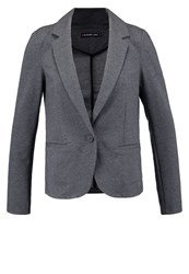 Evenandodd Blazer Dark Grey Melange Anthracite