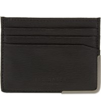 Ted Baker Metal Corner Leather Card Holder Black