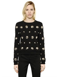 Versus Logo Studs Heavy Cotton Sweatshirt