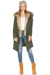 Bb Dakota Gerrard Jacket With Faux Fur Trim Army