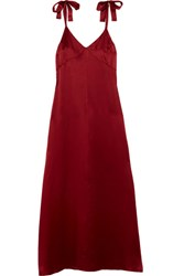 Reformation Silk Maxi Dress Red