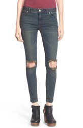 Free People Women's Destroyed Skinny Jeans