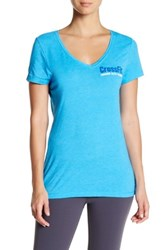 Reebok Graphic V Neck Tee Blue