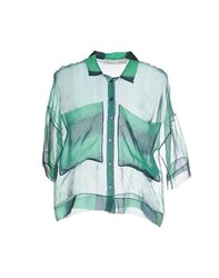 Tela Shirts Blouses Women Green