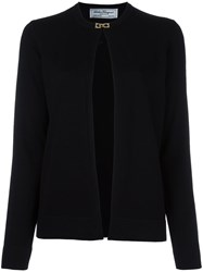 Salvatore Ferragamo Buckle Up Cardigan Black