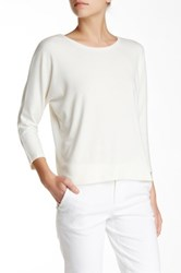 Alice Olivia Slouchy Silk Back Batwing Tunic White