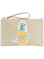 See By Chloe Pineapple Clutch Bag Women Cotton One Size Nude Neutrals