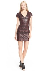 Women's Parker 'Serena' Perforated Leather Sheath Dress