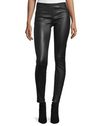 Helmut Lang Leather Ankle Leggings Black