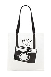 Forever 21 Camera Graphic Eco Tote Beige Black