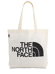 The North Face City Printed Cotton Tote Bag Chalk