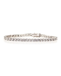 Cz By Kenneth Jay Lane Cz Medium Tennis Bracelet