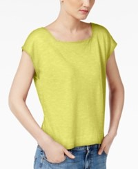 Eileen Fisher Organic Cotton Blend Cropped Boxy Top Regular And Petite Papyrus