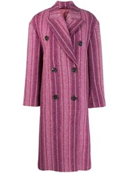 Acne Studios Oversized Buttoned Coat Pink