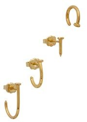 Joanna Laura Constantine Gold Plated Earrings And Cuff Set