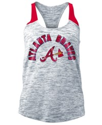 5Th And Ocean Atlanta Braves Space Dye Tank Navy Red