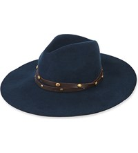 Sensi Studio Studded Wool Felt Fedora Hat Teal