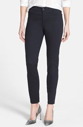 Petite Women's Nydj 'Clarissa' Colored Stretch Skinny Ankle Jeans Black