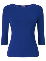 Precis Petite Jesse Satin Trim Top Mid Blue