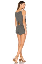Bobi Knit Cross Back Romper Black