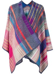 Missoni Plaid Cape Grey
