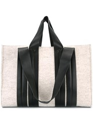 Corto Moltedo Large 'Costanza Beach Club' Tote Nude Neutrals