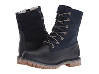 Timberland Authentics Teddy Fleece Waterproof Fold Down Boot Black Iris Women's Waterproof Boots