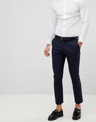 Selected Homme Suit Trouser With Stretch In Slim Fit Navy Blazer