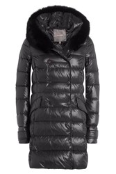Duvetica Down Coat With Fox Fur Trimmed Hood Black