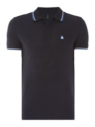 United Colors Of Benetton Short Sleeve Tipped Polo Navy