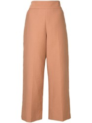 Rachel Comey Cropped Wide Leg Trousers Pink And Purple