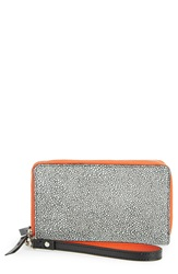 Halogen 'Cassie' Double Zip Wristlet Graphic Ray