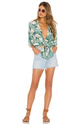 Amuse Society Island Oasis Button Up Dress Green