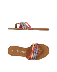 Billabong Footwear Thong Sandals Women Camel