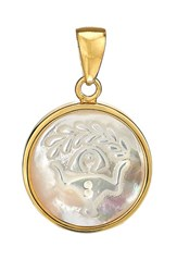 Asha Women's Zodiac Mother Of Pearl Charm Virgo