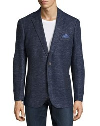 English Laundry Two Button Knit Blazer Blue