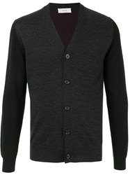 Cerruti 1881 V Neck Cardigan Black