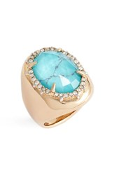 Alexis Bittar Women's Encrusted Stone Ring Silver Blue