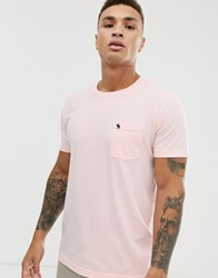 Abercrombie And Fitch Icon Logo Crewneck T Shirt In Pink