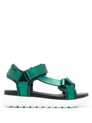 P.A.R.O.S.H. Strappy Platform Sandals Green