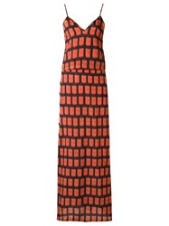 Amir Slama Printed Long Dress Black