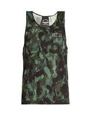 The Upside Sketchy Camouflage Print Performance Tank Top Black Multi
