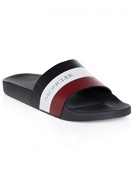 Moncler Navy Striped Sandal
