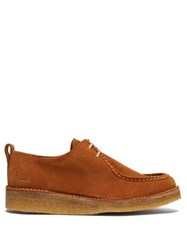 Ami Low Top Suede Derby Shoes Tan