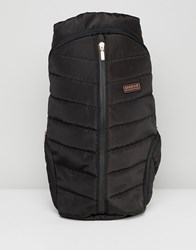 Barbour International Quilted Backpack Black